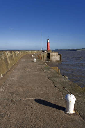 viewpoint: pier jetty harbour lighthouse watchet somerset england uk