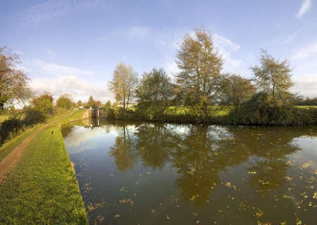 the worcester and birmingham canal stoke prior worcestershire Stock Photo - 2268652