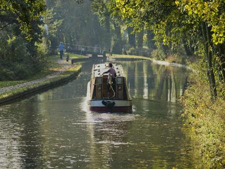 avon: stratford upon avon canal preston bagot flight of locks warwickshire midlands england uk
