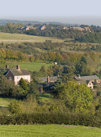 hamlets: village with houses in countryside