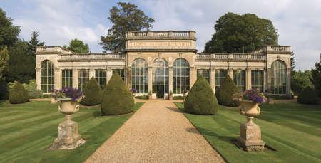 historic: The stately home of Castle Ashby, Northamptonshire, Midlands, England, UK. Stock Photo