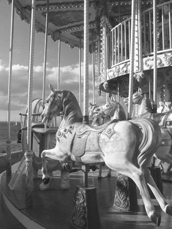 A carousel at St Raphael on the cote dazur France.
