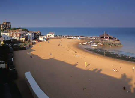seafronts: The seafront at the holiday resort of broadstairs on the Kent coast.