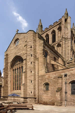 hereford: Hereford Cathedral in Herefordshire, The Midlands, England, UK Stock Photo