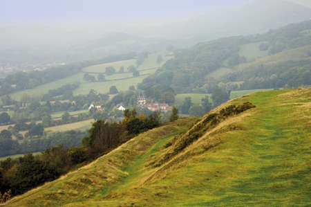Views from the herefordshire beacon on the malvern hills. photo