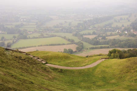 viewpoint: Views from the herefordshire beacon on the malvern hills.