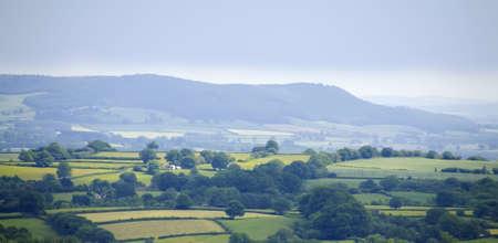 tortillera: Vista desde el dique offas sendero de larga distancia hergest cresta Herefordshire. Foto de archivo