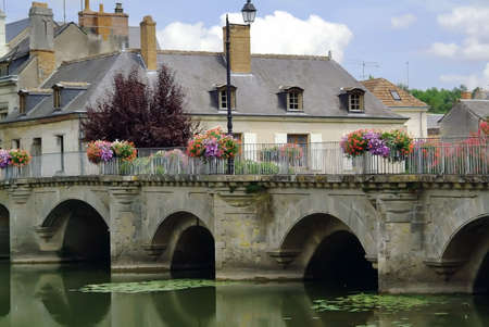 rideau canal: Azay le rideau in the loire valley france europe.