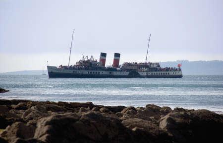 waverley: Tourist steamer lulworth cove dorset. Stock Photo