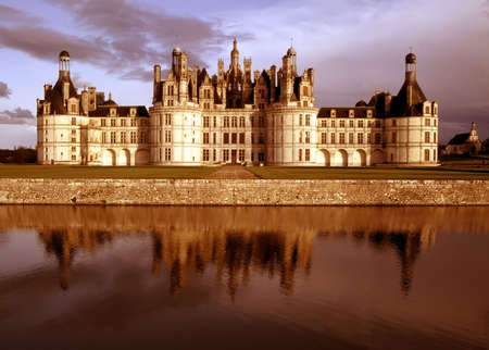 loire: Chateau chambord in the loire valley france europe.
