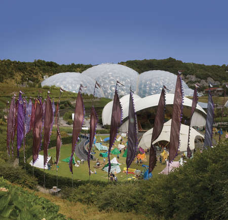 conservatories: eden project cornwall england uk