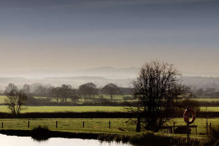The view towards the malvern hills from the jinny ring centre hanbury worcestershire england uk. photo