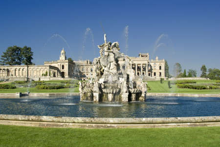 andromeda: The Perseus and Andromeda fountain at Witley Court Country House Worcestershire Midlands England. Stock Photo