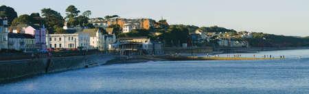devon: sea front holiday resort town of dawlish devon england uk