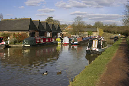 tardebigge: The Worcester and Birmingham canal at Tardebigge canal village in Worcestershire, the Midlands, England.