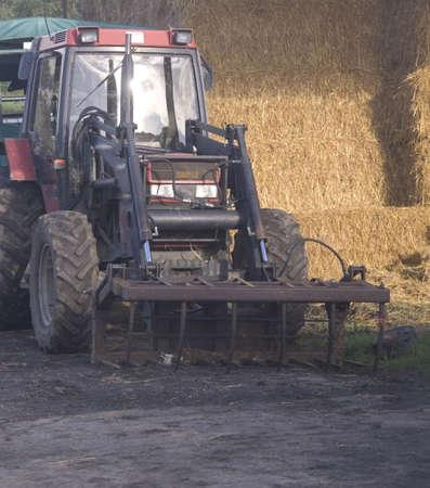 A tractor on a farm. photo