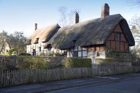 william: Anne hathaways cottage, the home of william shakespeares wife, shottery stratford-upon-avon great britain england uk united kingdom eu.