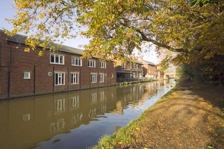 worcester and birmingham canal: The worcester and birmingham canal at stoke prior worcestershire Stock Photo