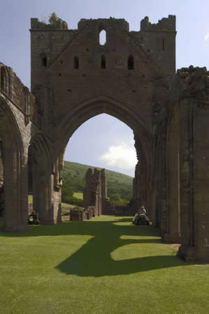 abbeys: Llanthony Priory Abbey in the Vale of Ewyas. Black Mountains Powys mid Wales Wales United Kingdom Europe. Stock Photo