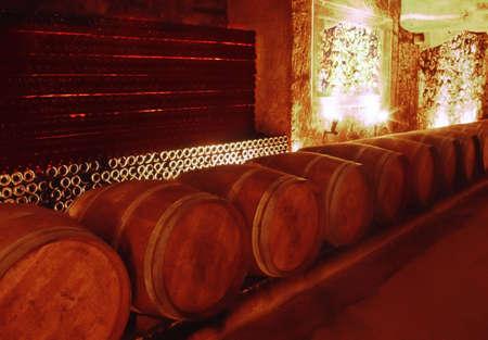 Wine cellar st emilion gironde aquitaine france. photo