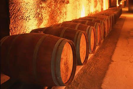wines: Wine cellar st emilion gironde aquitaine france.