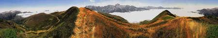 rock strata: The col daubisque in the pyrenees-atlantique aquitaine france. Stock Photo
