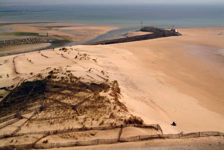 manche: The beach at carteret, the cotentin peninsula, manche, normandy, france.