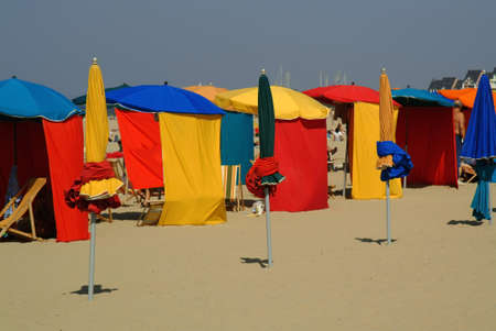 normandy: The planche and beach at Deauville, Seine-maritime, Normandy, France.