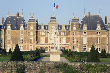 aristocracy: The chateau at eu-le treport, seine-maritime, normandy,france.