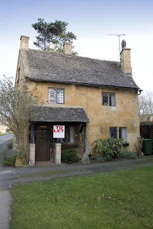 A cottage broadway village the cotswolds worcestershire england uk. photo