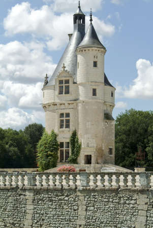 loire: Chateau chenonceau in the loire valley france europe.