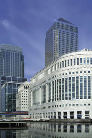 Office blocks at canary wharf docklands london.
