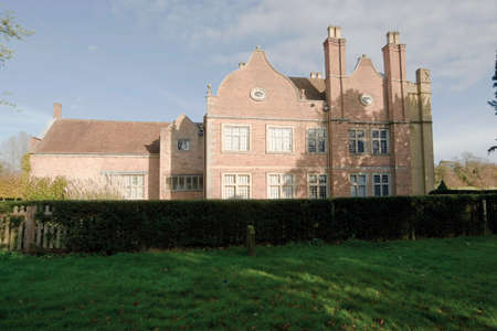 elizabethan: The stately home of coughton court warwickshire.