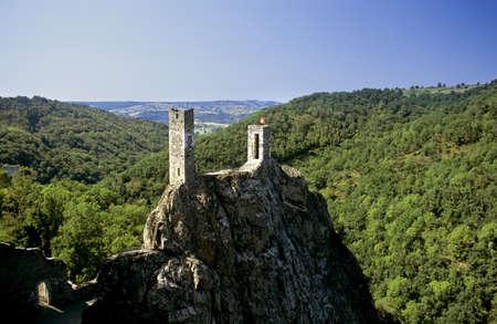 housing lot: A castle on hill peyrusse le roc lot et garonne france Stock Photo