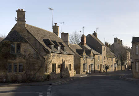 A street in chipping campden  cotswolds gloucestershire midlands england uk photo