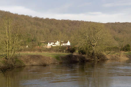 severn: The river severn in the severn valley worcestershire the midlands england. Stock Photo