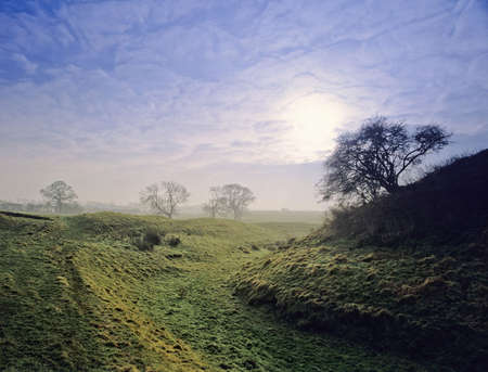 earthwork: A moote and bailey castle, yelden bedfordshire.