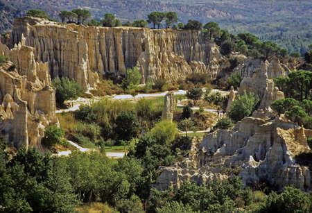 roussillon: Ille sur Tete Les Orgues Pyrenees Orientales Languedoc Roussillon France Europe  Stock Photo