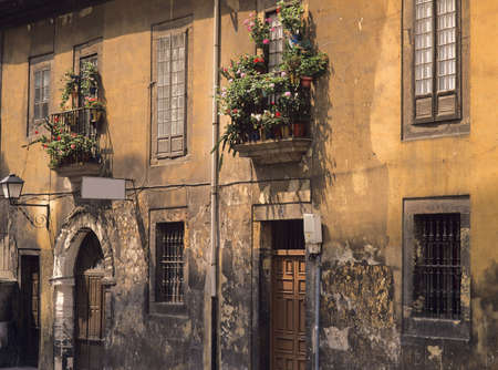 verde: old house in the old town of oviedo asturias costa verde green spain europe Stock Photo