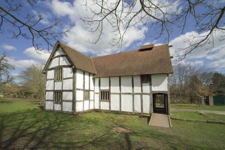 timbered: A  half timbered cottage  the midlands worcestershire england uk