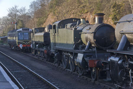 worcestershire: The severn valley preserved steam railway.