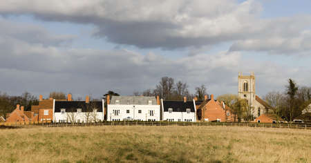 hamlets: village with houses in countryside, barford on avon near stratford upon avon.