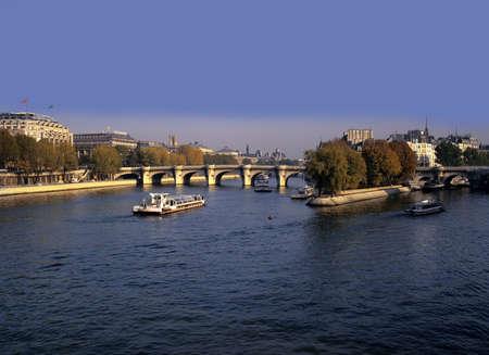 cite: river seine pont neuf ile de la cite paris france europe