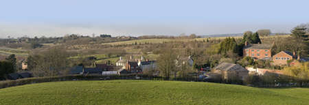 tardebigge: A view of a village and farmland, tardebigge, worcestershire, england, uk