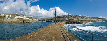 holiday resort town porthleven cornwall england uk photo