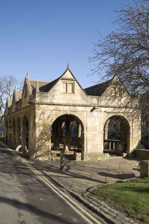 The market hall in chipping campden high street cotswolds gloucestershire midlands england uk photo