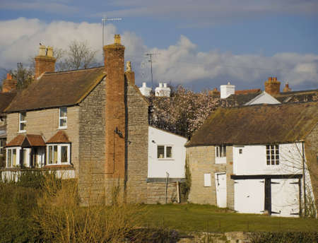 A village with houses in countryside, bidfrod on avon warwickshire Stock Photo - 2790240
