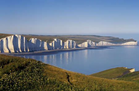 chalky: sussex south downs way the seven sisters Stock Photo