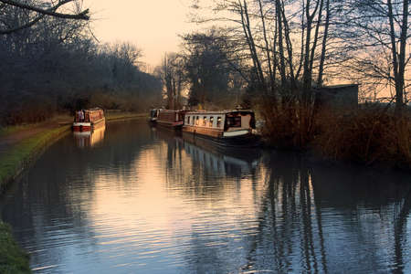 narrow boat barge the worcester and birmingham canal stoke prior worcestershire Stock Photo - 2790237