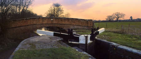 narrow boat barge the worcester and birmingham canal stoke prior worcestershire Stock Photo